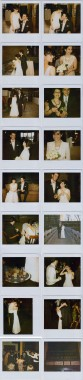 A Polaroid wedding