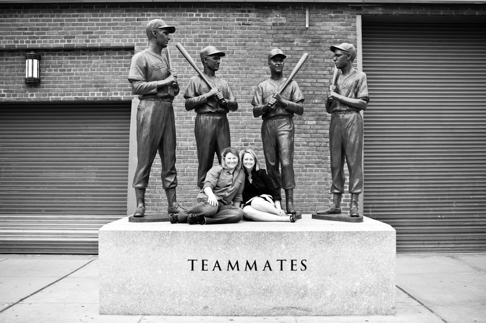 red sox teammates statue