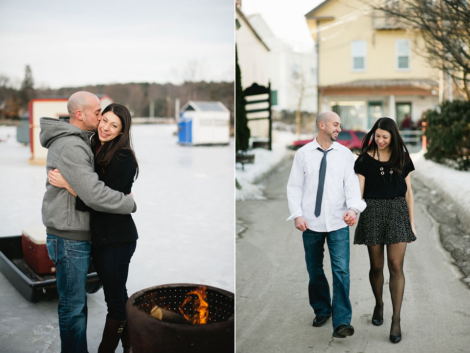 ice fishing engagement