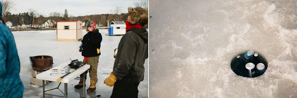 ice fishing engagement