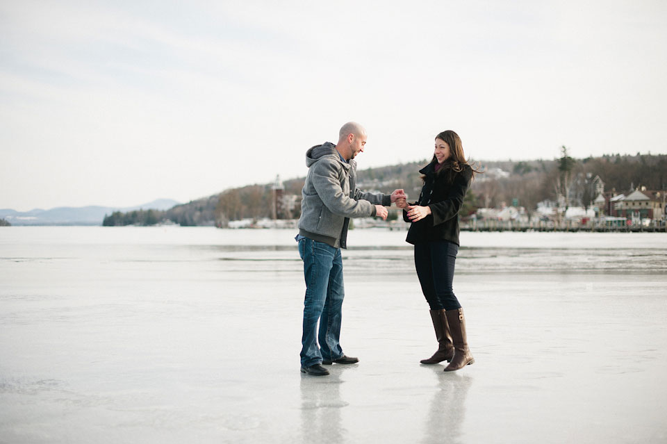 ice fishing engagement session