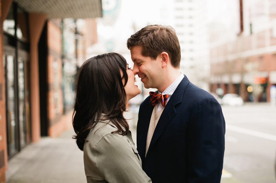 downtown portland oregon engagement