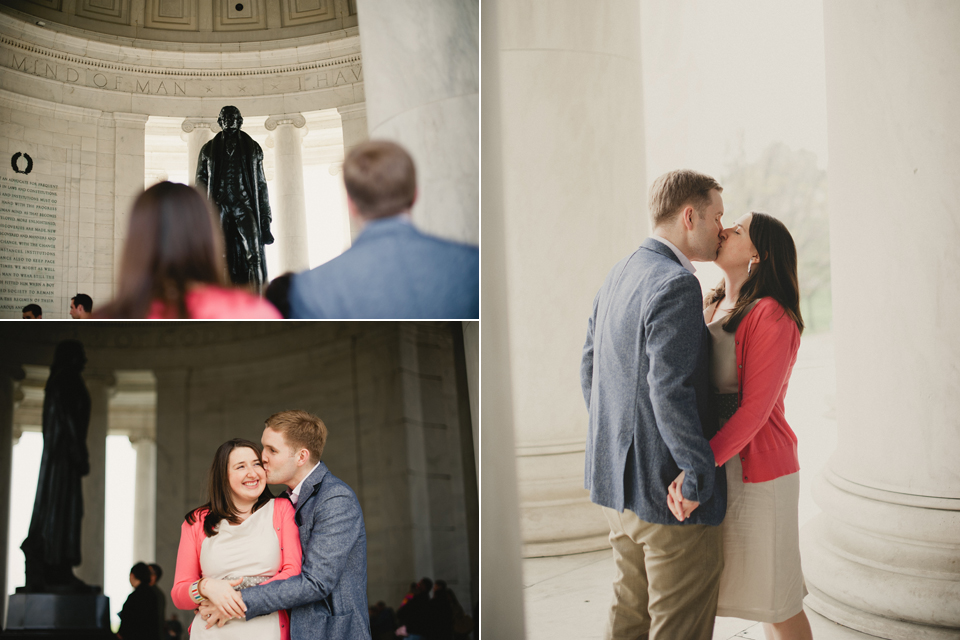 Washington DC jefferson monument engagement