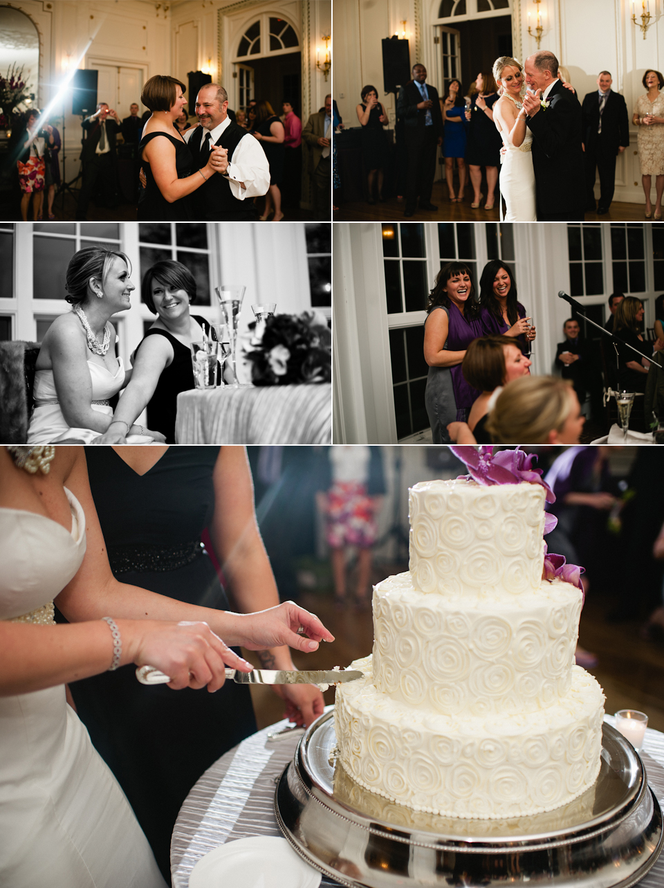 dances, toasts, cake cutting!
