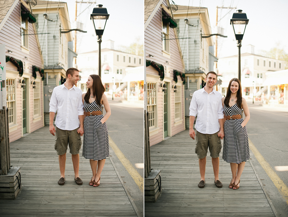kennebunkport, maine engagement session