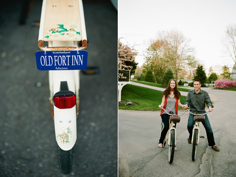 meg & pete on bikes - old fort inn