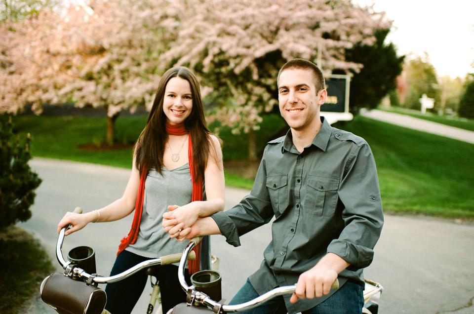 meg & pete on bikes