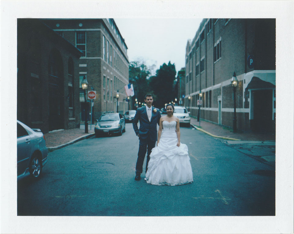 polaroid boston wedding