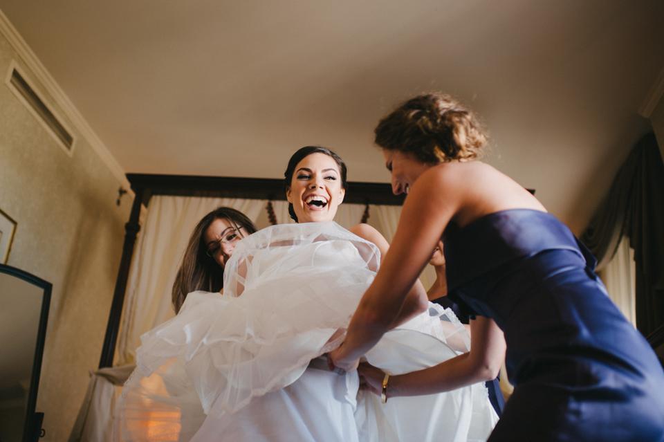 bride dressing