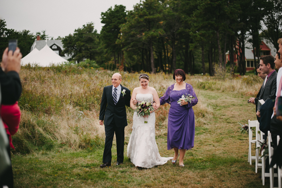 wedding ceremony at the fairbourne