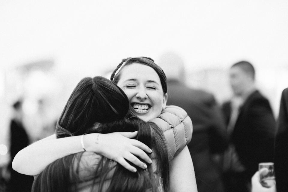 bride huggin