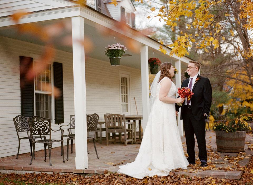 first look vermont wedding
