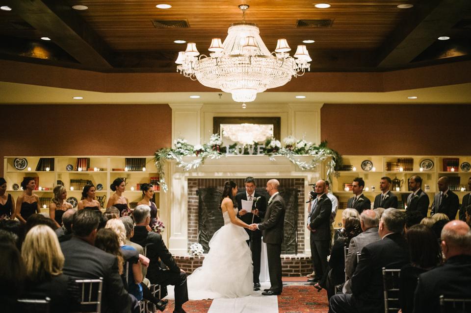 indoor winter wedding ceremony