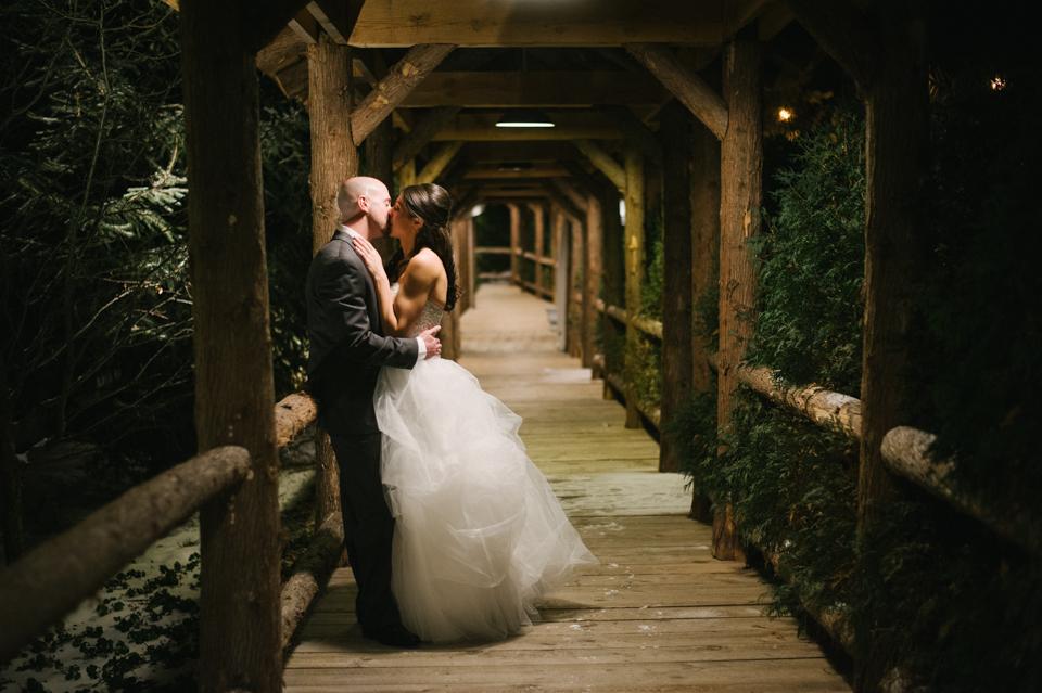 church landing night time wedding