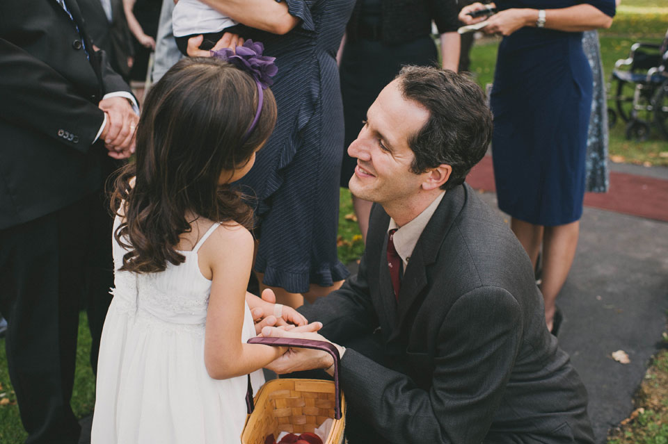 flower girl and dad