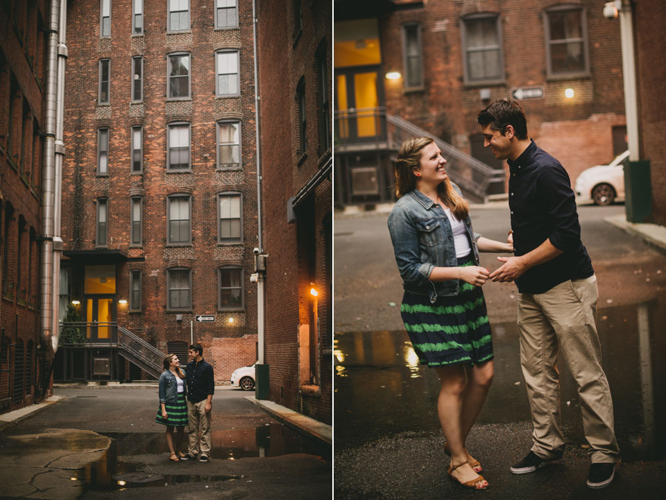fort point boston Engagement session