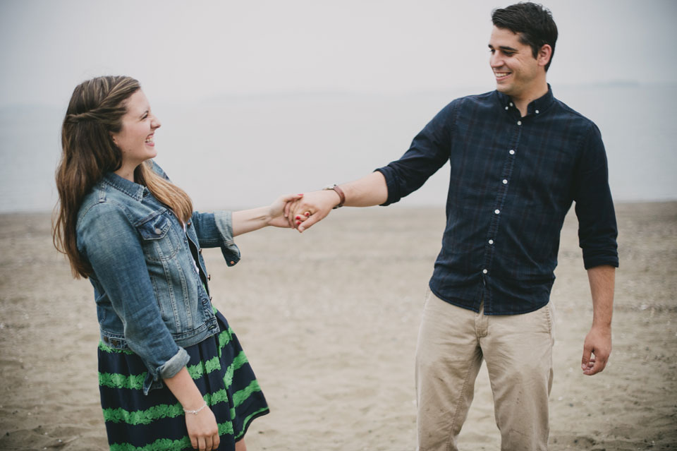 carson beach Engagement session