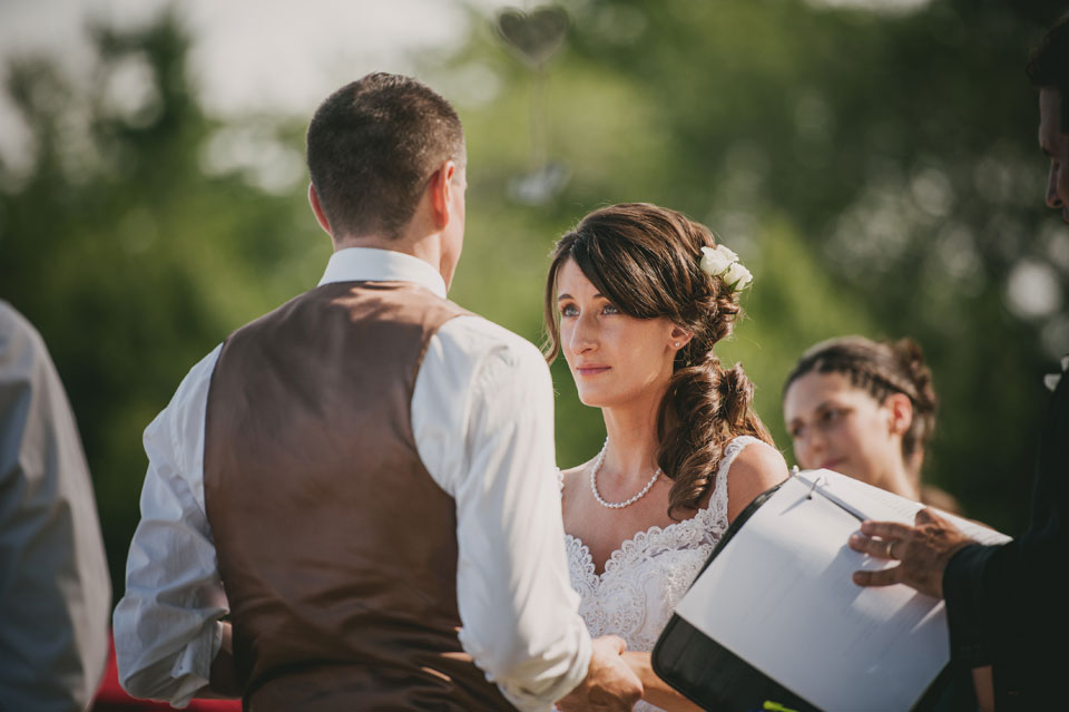 wedding ceremony at Kitz Farm