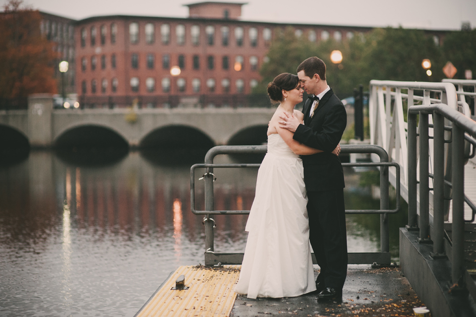 fall wedding at the Charles River Museum of Industry & Innovation
