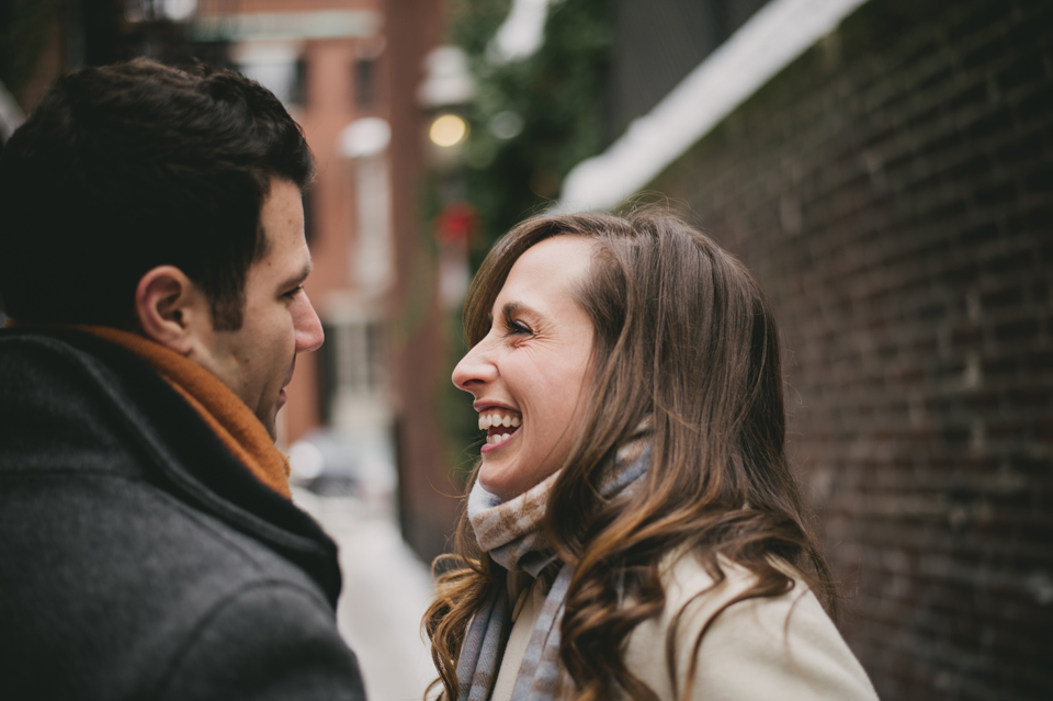 snowy beacon hill engagement session