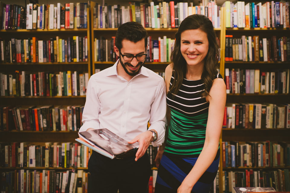 Harvard Bookstore Engagement Session