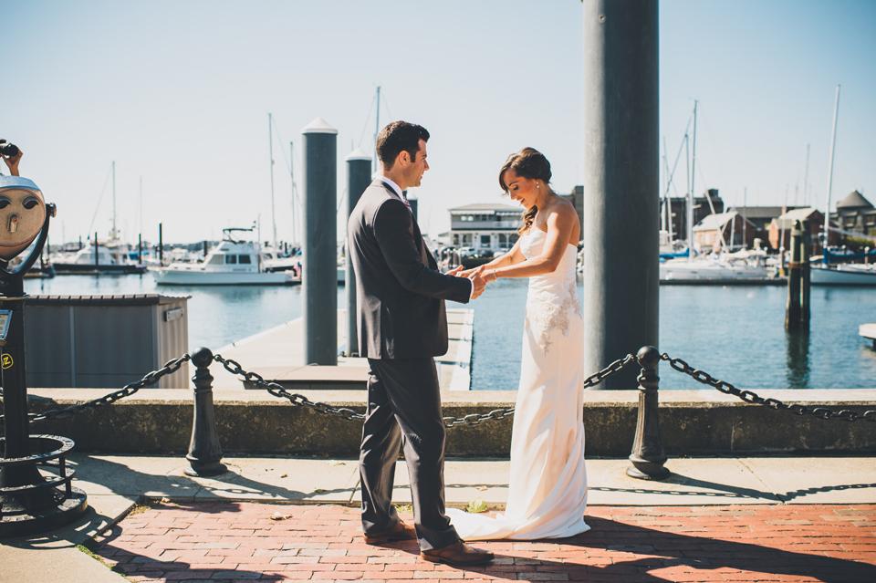 Newport, RI First look Wedding