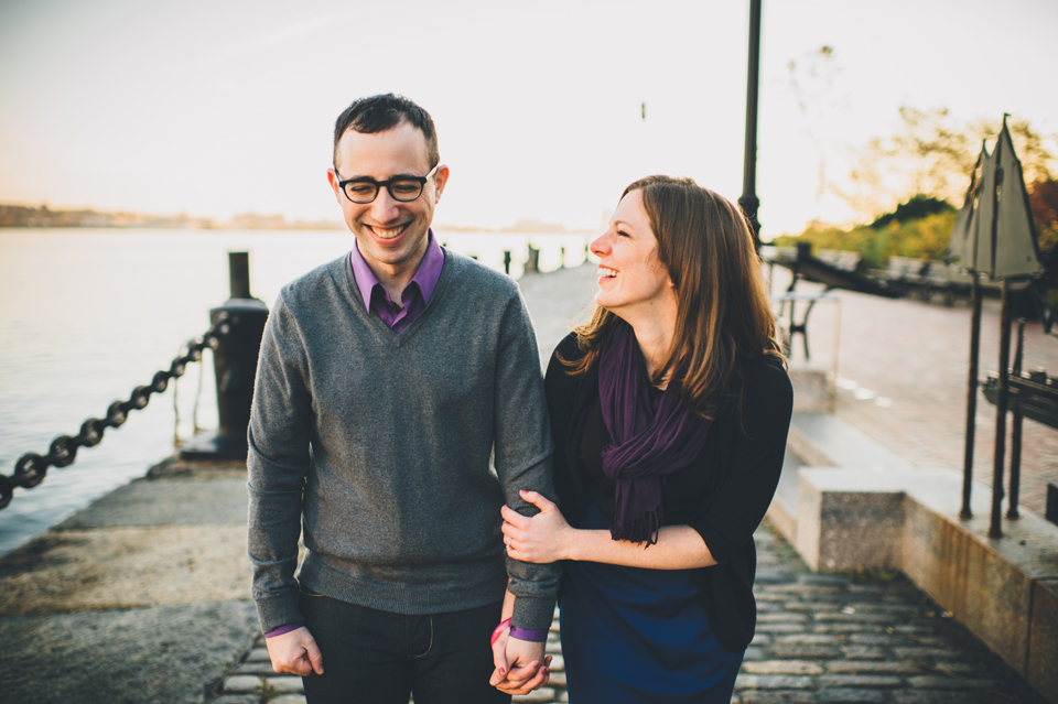 Sunrise Boston engagement session