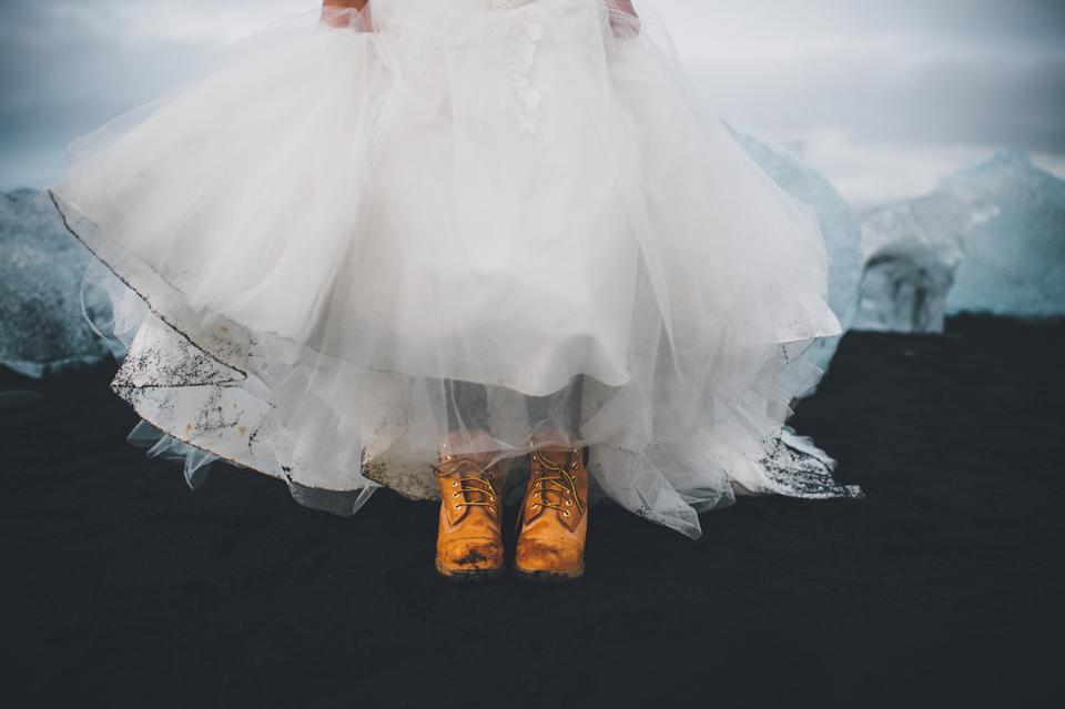 black sand beach vik iceland wedding