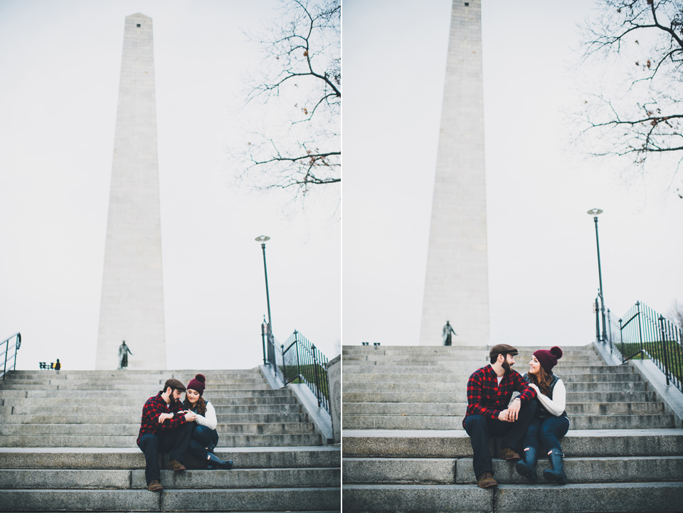 winter Charlestown Engagement session