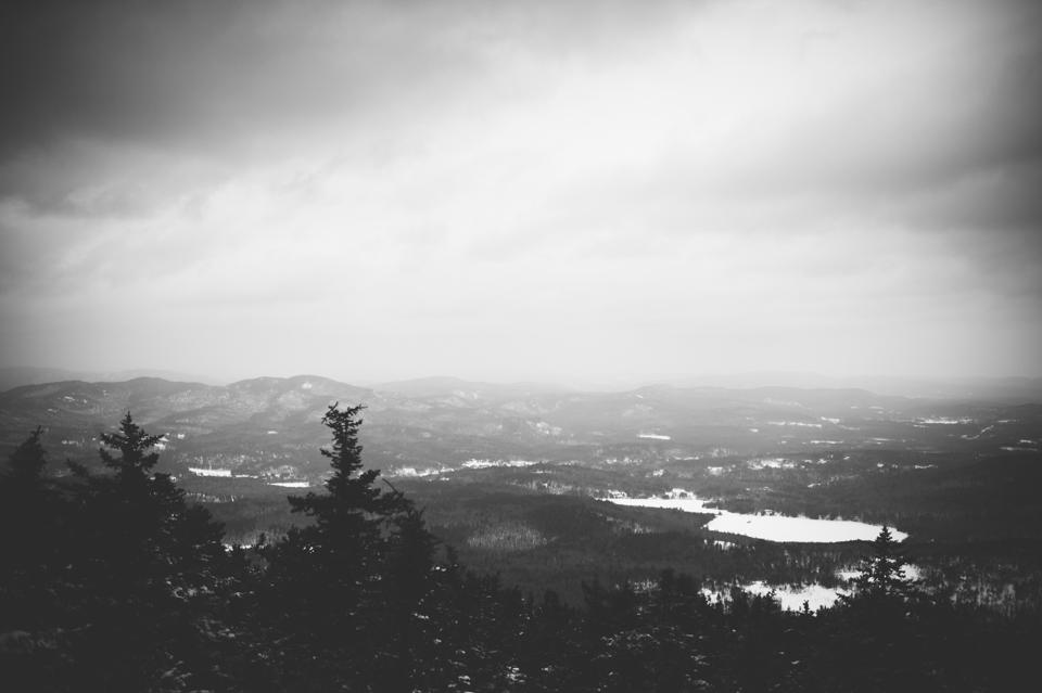 white mountains snowshoeing