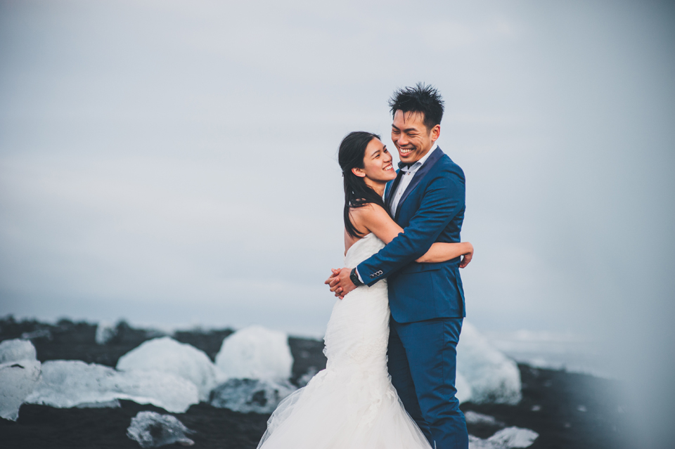 Jökulsárlón iceland wedding photographer