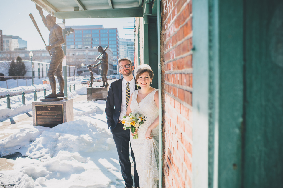Fenway Park wedding portraits
