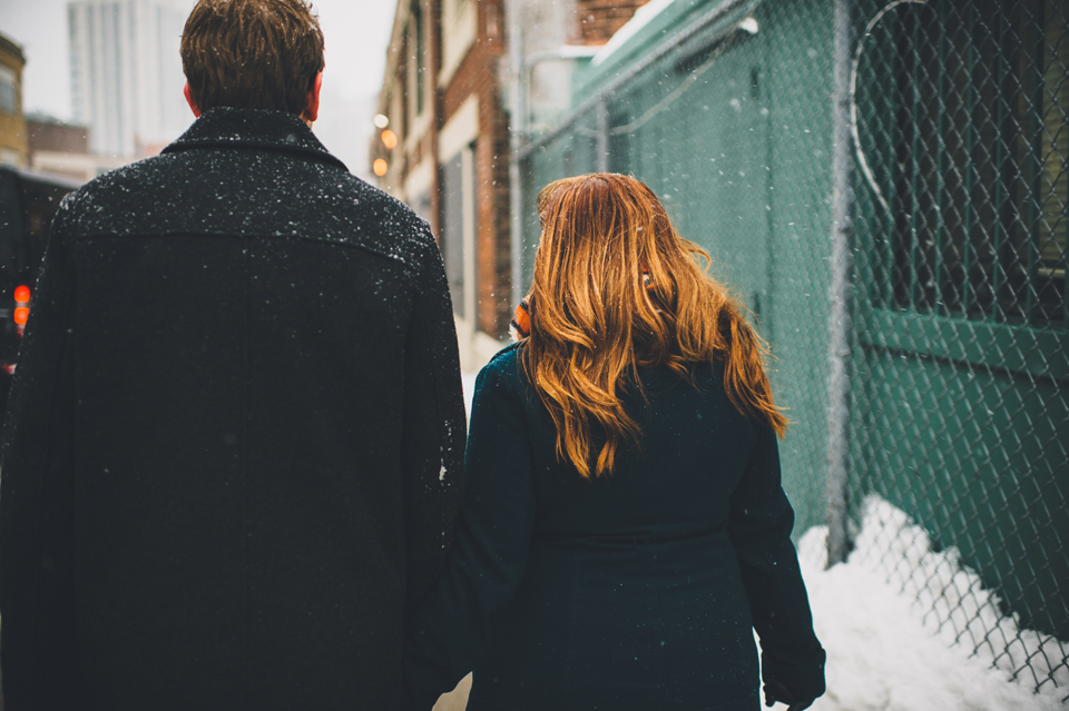 fenway park winter engagement session