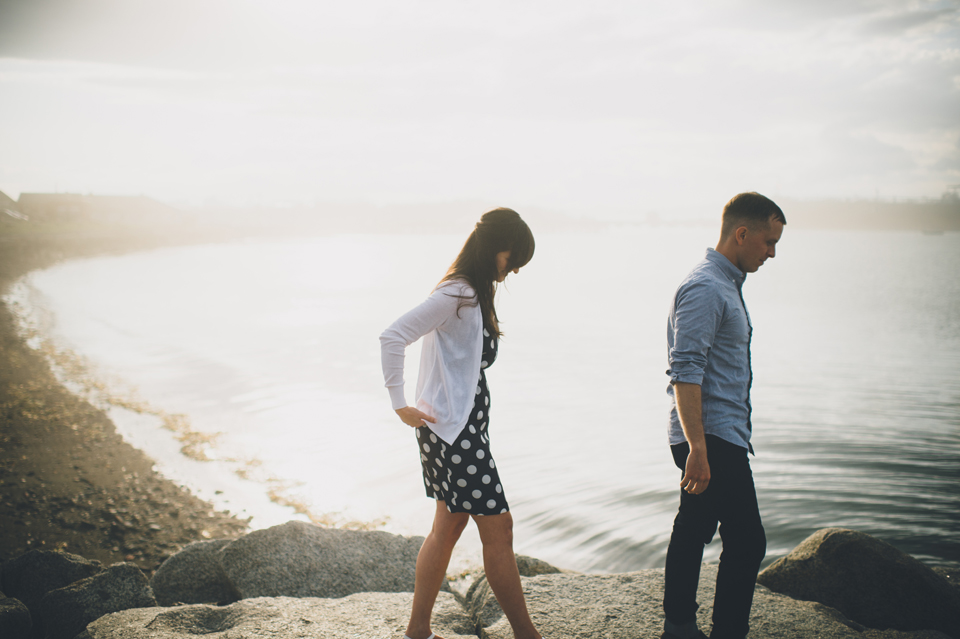 Portland lighthouse engagement photos