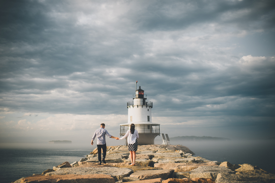 Spring Point Ledge Light engagement photos