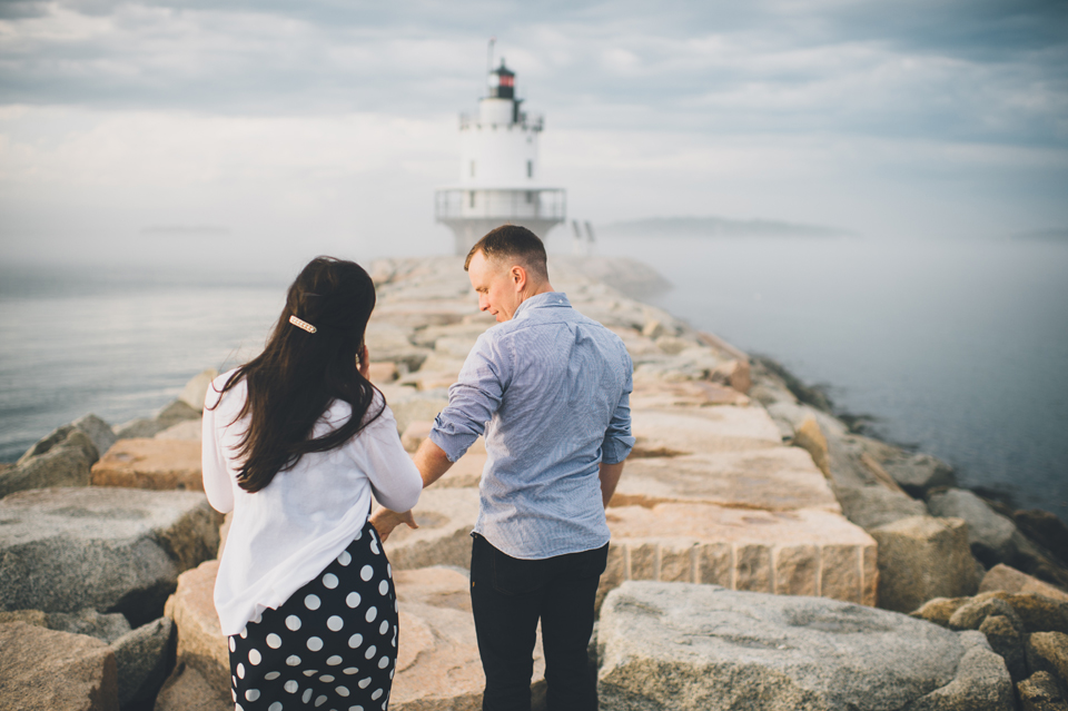south portland maine engagement photos