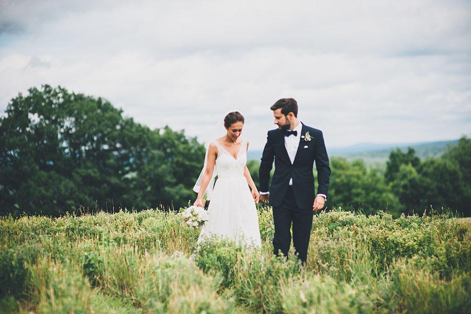 White mountain farm wedding