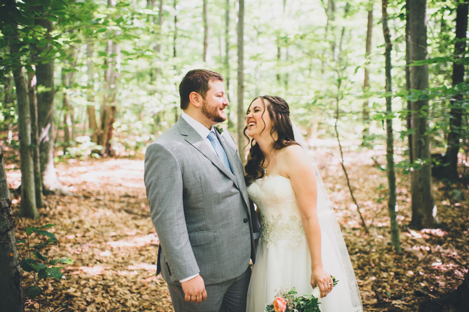 wedding in a forest in new england