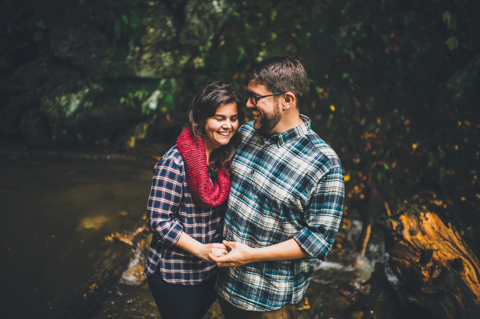 hiking engagement session berkshires