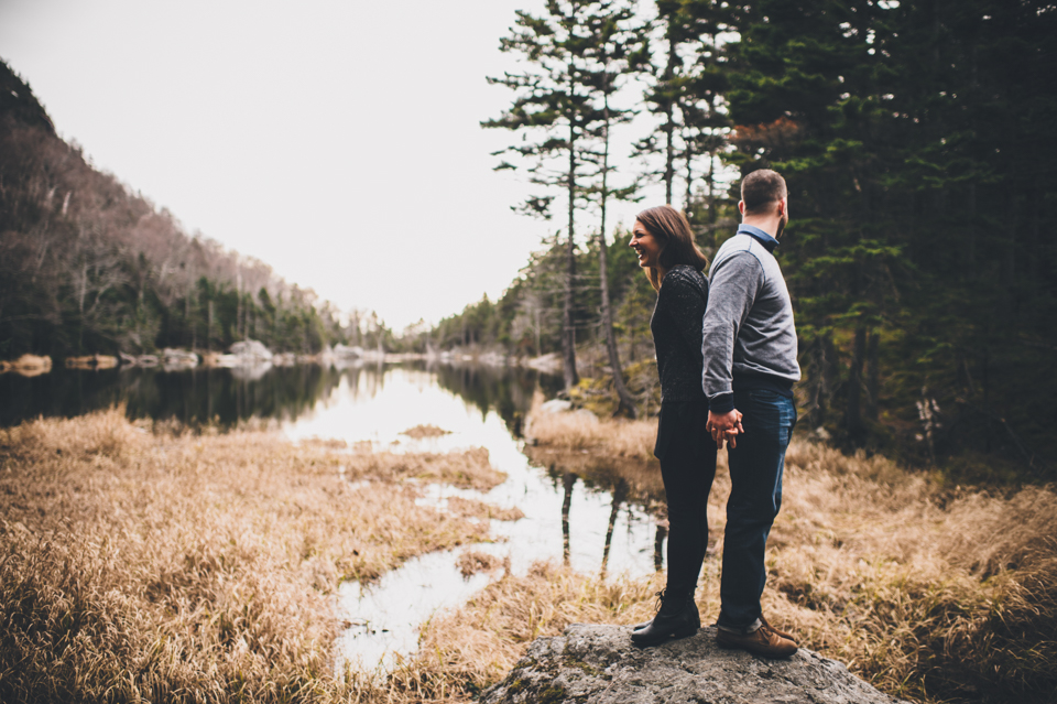 Lost pond trail engagement session