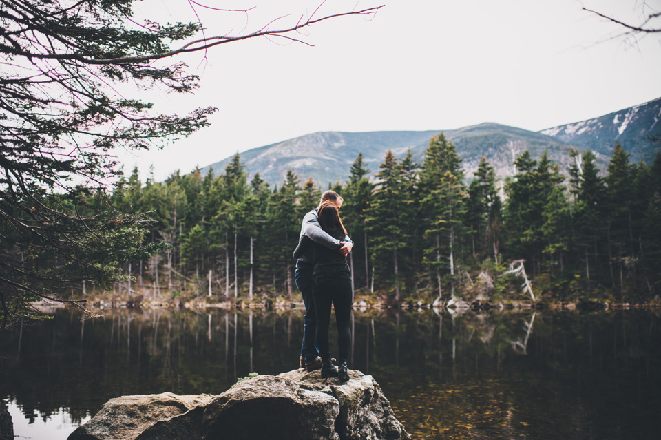 AMC pinkham Notch engagement photos