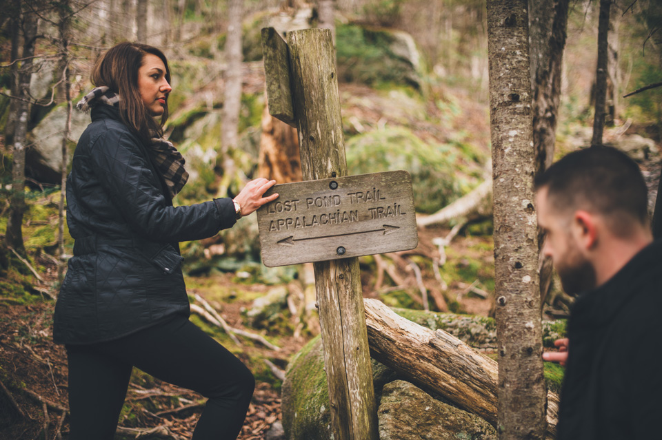 Appalachian trail engagement photos