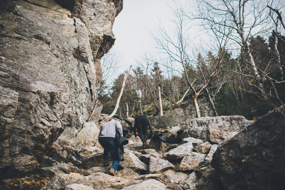 square ledge trail, new hampshire engagement